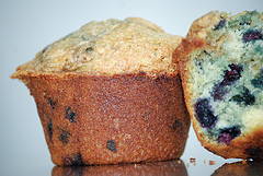 blueberry muffins halves